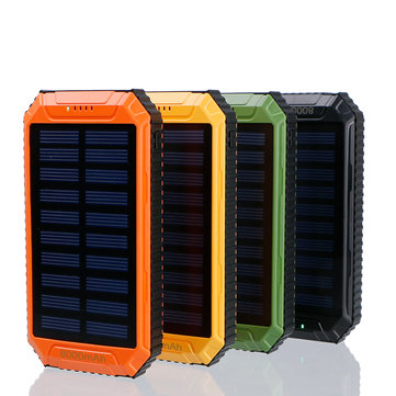 8000mAh DC5V 2A Dual USB Solar Panel Power Bank for Mobile Phone
