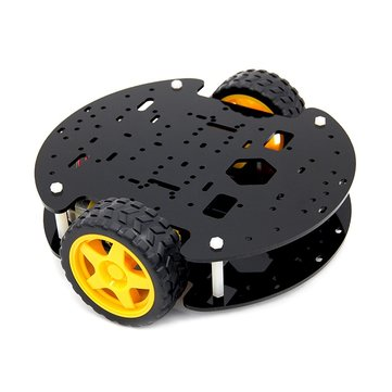 DIY 2WD Wheels Smart Robot Car Chassis Kit with Speed Encoder