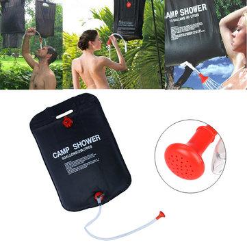 20L 40L Summer Travel Solar Energy Heated Shower Bag Outdoor Camping Durable Waterproof Bag Black