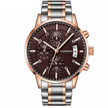 GUANQIN GS19093 Calendar Business Stainless Quartz Watch