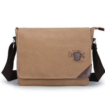 Men Canvas Large Capacity Retro Shoulder Crossbody Bag