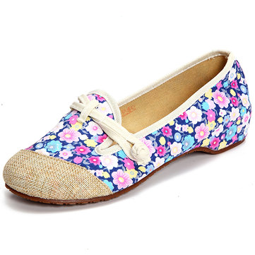 Women Flower Slip On Flats Casual Outdoor Loafers