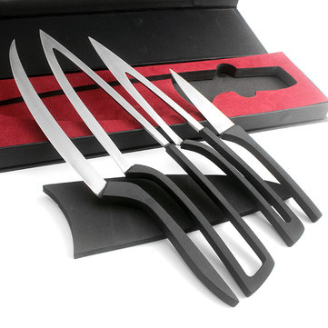 KCASA KC-KF38 Overlap Multi Kitchen Knives 4pcs/set Camping Stainless Steel Knife Sets