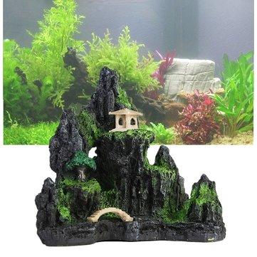 Aquarium Rockery Decoration Mountain View Fish Tank Decor Ornament Decoration