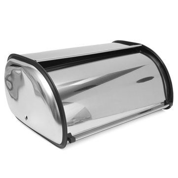 34×21×14.5cm Stainless Steel Bread Box Storage Bin Keeper Food Kitchen Container