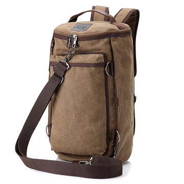Men Canvas 55L Multi-functional Vintage Travel Backpack