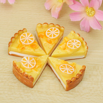 DIY Resin 30*22MM Kawaii Cake Pizza Simulation Food Cell Phone Decoration Bun Bag