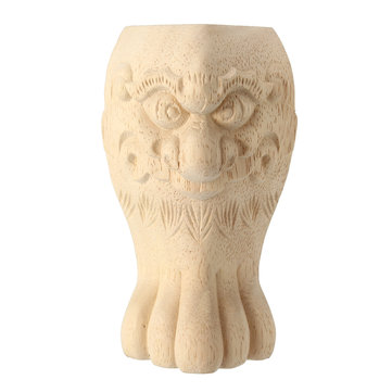 4Pcs 10/15cm European Solid Wood Carving Furniture Foot Legs Unpainted Cabinet Feets Wood Decal