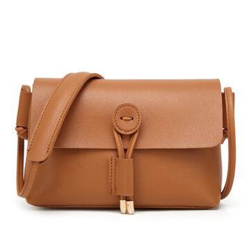 Women PU Leather Hasp Shoulder Bags Vintage Flap Crossbody Bags Messenger Bags