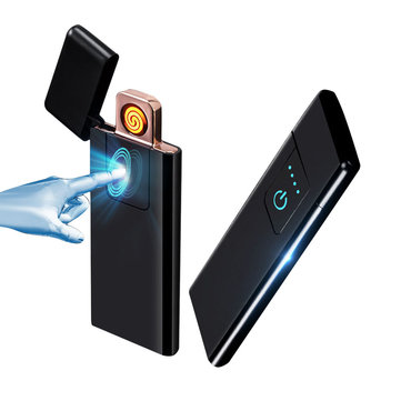 KCASA KC-MT10 Ultra-thin Lighter Fingerprint Sensing Touch Sensor USB Rechargeable Flameless Lighter