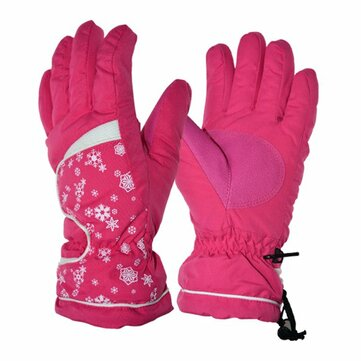 Women Ski Gloves Winter Waterproof Gloves Warm Gloves