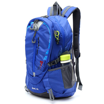 IPRee® 40L Waterproof Nylon Backpack Sports Travel Hiking Climbing Unisex Rucksack