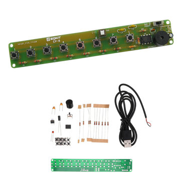 5pcs Simple Electronic Organ Kit DIY NE555 Soldering Practice Board Multi-notes Keyboard Set