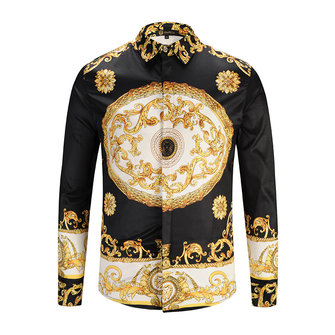 Mens Vintage Golden Printing Shirts
