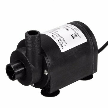 Mini DC 24V Water Pump Solar Brushless Motor Water Pump 7m Lift 1000 L/H