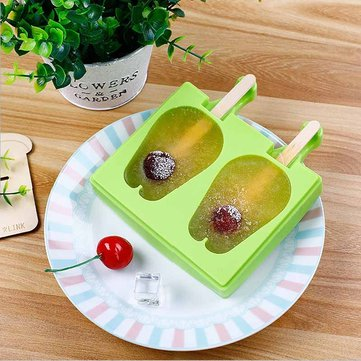 KCASA KC-IM02 Double Rabbit Silicone Ice Cream Popsicle Molds with Lid Reusable Mold DIY Tools