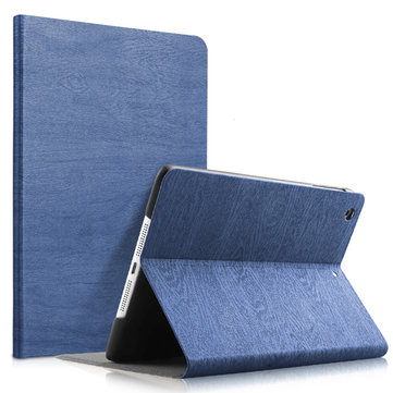 Wood Grain Pattern Smart Sleep Kickstand Case For iPad Mini 1/2/3