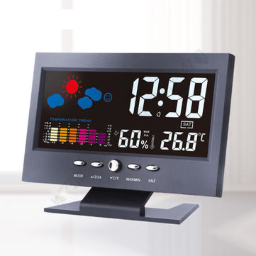 3Pcs/5Pcs/10Pcs Color LCD Screen Calendar Digital Clock Car Thermometer Weather Forecast Black