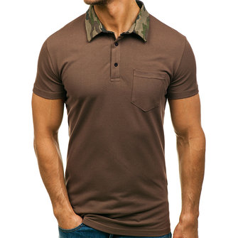 Summer Leisure Short Sleeve Loose Golf Shirts for Mens
