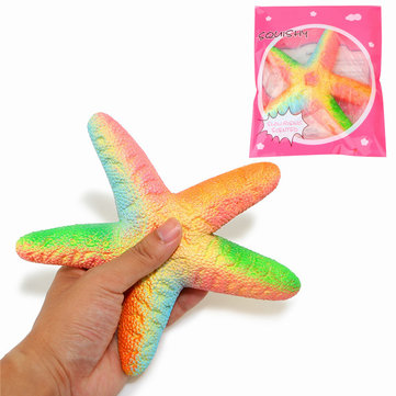 Jumbo Kawaii squishy Rainbow Starfish Squishy Scented Slow Rising Cute Soft Toy