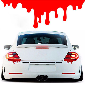 Funny Red Blood Drop Stickers Vinyl Decal for Car Motor Tail Light Window Bumper Decoration