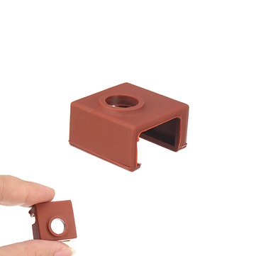 6Pcs Coffee Color MK9 Silicone Protective Case For Heating Aluminum Block 3D Printer Part Hot End