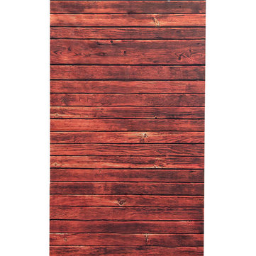 0.9 x 1.5m Red Wooden Wall Floor Vinyl Studio Photography Backdrop Props Background