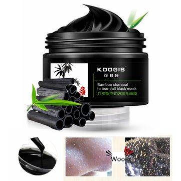 2pcs KOOGIS Blackhead Remover Mask Bamboo Charcoal Tearing Removal Deep Clesing Acne Facial Nose