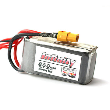 Infinity 14.8V 850mah 70C 4S1P Graphene LiPo Battery XT60 Support 15C Boosting Charge