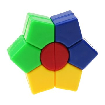 Classic Magic Cube Toys Set PVC Sticker Block Puzzle Speed Hexagon Cube