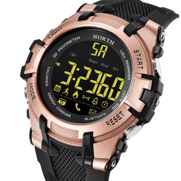 NORTH NS-2007 Calories SMS Alert LED Display Bluetooth Watch