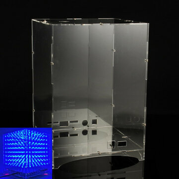 Transparent Acrylic Board Housing For 8x8x8 3D Light Cube Kit