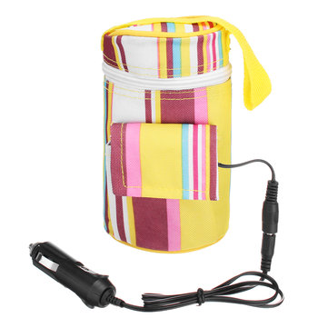 12V 40℃ Portable Travel Car Warmer Baby Bottle Heater Feeding Food Insulation Thermostat