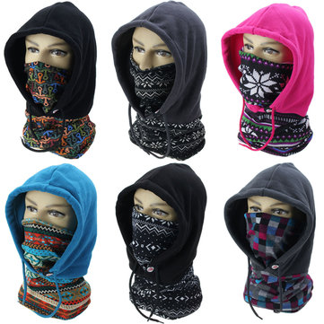 Balaclava Full Face Mask Fleece Windcap Neck Warm Hood Ski Hat Motorcycle SAHOO