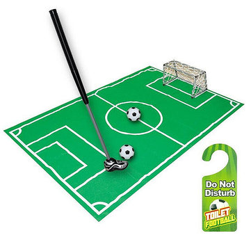 Nieuwigheid Badkamer Toilet Mini Voetbal Doel Net Kit Trainer Funny Game Gift Toy