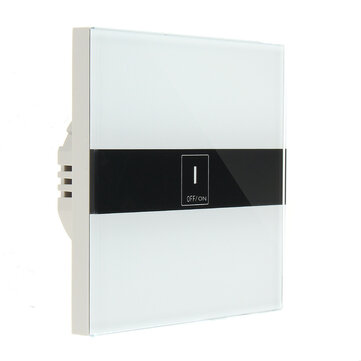 EU AC90-250V 10A Tempered Glass Smart Home Touch Sensor Switch Panel
