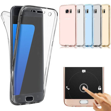 360° Front And Back Protective TPU Clear Case Cover For Samsung Galaxy S7 Edge