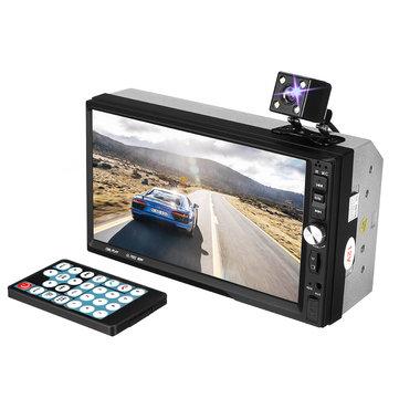 7 дюймов Двойной 2 Din Авто MP5 Player Сенсорный экран Bluetooth USB FM Радио Вт / камера