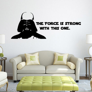 W-2 Darth Vader Alphabet Wall Stickers Removable - BLACK
