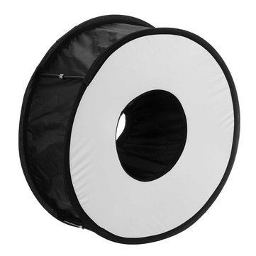 45CM Ring Macro Shoot Softbox Diffuser for Canon Nikon Nissin Metz Godox SpeedLite Flashlight