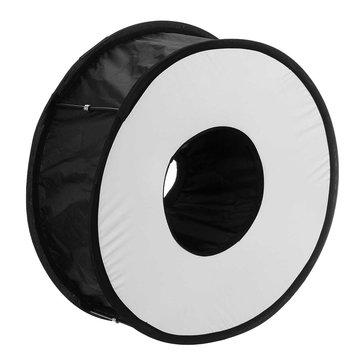 45CM Ring Macro Shoot Softbox Diffuser for Canon Nikon Nissin Metz Godox SpeedLite Flashlight