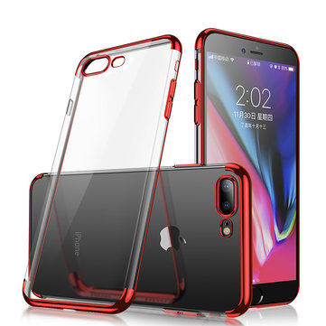 Cafele Plating Transparent Soft TPU Case For iPhone 7/iPhone 8