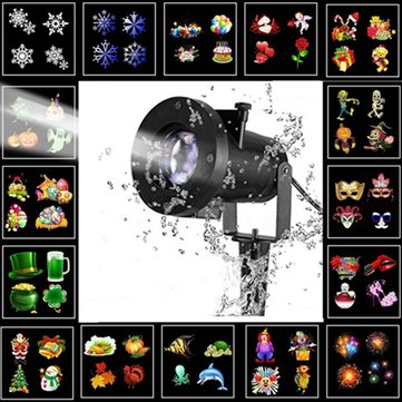 ARILUX® 16 Patterns 8W Remote Christmas Stage Light Projector Waterproof Spotlight Halloween Party