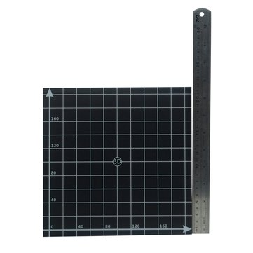 220*220mm Black Square Scrub Surface Hot Bed Platform Sticker Sheet With 1:1 Coordinate For 3D Printer