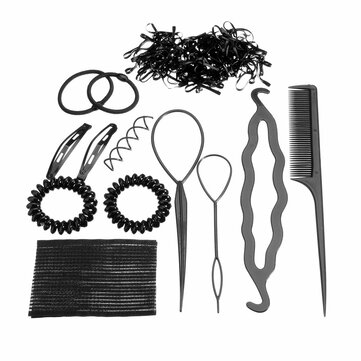 Pro Hair Maker Clip Hairbands Hairpins Styling Accessories Tools Kit