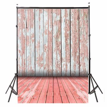 3x5ft Retro Wooden Wall Floor Theme Photography Background Vinyl Fabric Studio Backdrop 1x1.5m