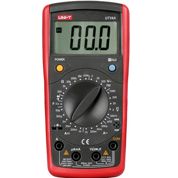 UNI-T UT39A Digital LCD 1999 Count Auto Power Off Multi Meters Amp Ohm Volt Meterr Transistor