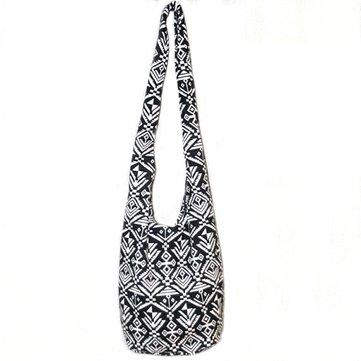 Panno annata borsa a tracolla vento nazionale sacchetto di acquisto crossbody bag di tela