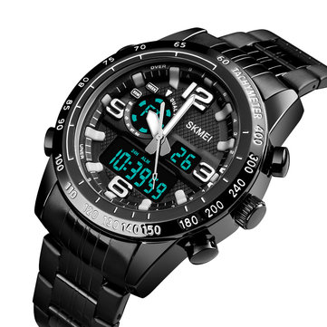 SKMEI 1453 Steel Dual Disaplay Digital Watch