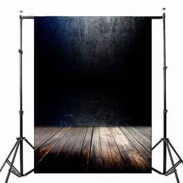 5x7ft Dark Wall Wood Floor Vinyl Photography Backdrop Photo Background Studio Prop